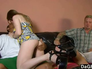 all brunette hot, doggystyle, blowjob
