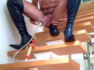 laarzen video-, u crossdressing