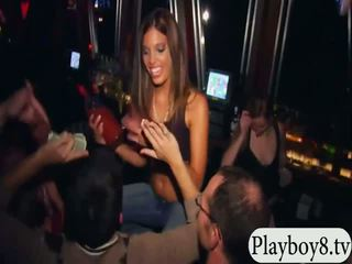 Sexy playmates having a party in the bar and get fucked