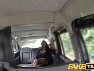 Fake taxi sekretaris looking lady with huge susu and udan