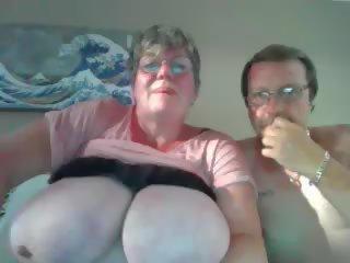 Granny tits big Saggy tits