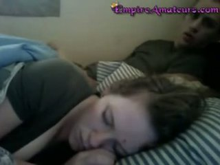 Jerking It While She Sleeps Till He Cums On Her Fa
