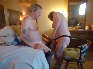 Fucking Whore Husbands Man Pussy Ass and Making Him Ride