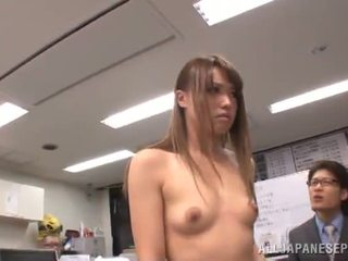 Sleaze Japanese Female Has Crashed Giant In An Office