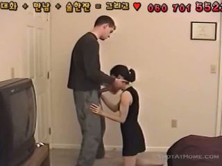 Small Corean Girl Likes Big White Cock