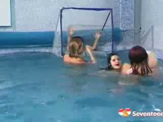 Teen Girls Play Water Polo Nude With A Dildo Suprise