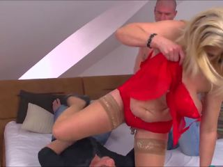 Marina Montana - German Big Saggy Tits DP Stockings...