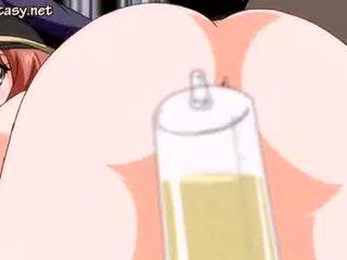 Busty anime minx gets anally fucked