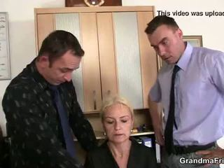 Vana blond enjoys two cocks