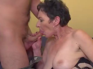 Granny Penetrated by Young Mother Fucker, Porn 9d