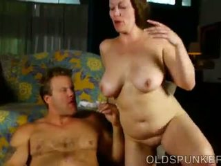 Busty old spunker is an amazing hot fuck and loves to eat cum