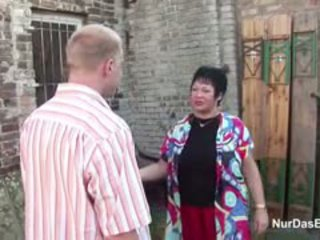 German Mother Shows Young Step-Son How To Fuck Girl