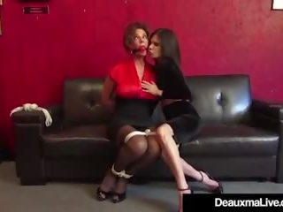 Mature Cougars Deauxma & Ashley Renee Bound & Ball...