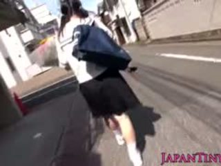 Tiny Japanese Schoolgirl Felledup