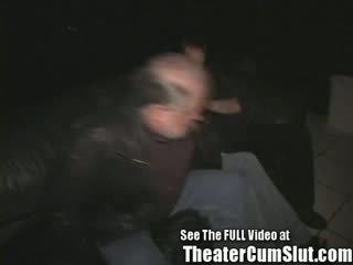 19 y/o Sierra Gets Gangbanged In A Public Porno Theater In Tampa