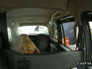 Huge tits blonde gets breasts fucked in fake taxi