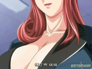 Big busted hentai schoolgirl hot tittyfucking and