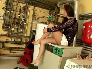 nice foot fetish, more pornstar scene, real sexy legs thumbnail