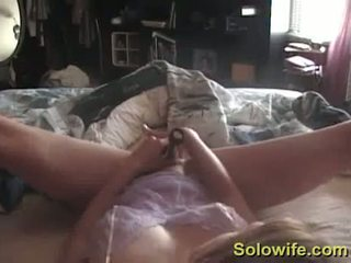 Young Wife Caught Masturbating On Her Bed