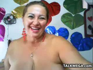 bruneta, velká prsa, webcam