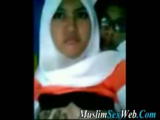 Hijab Girl Gets Boobs Fondled