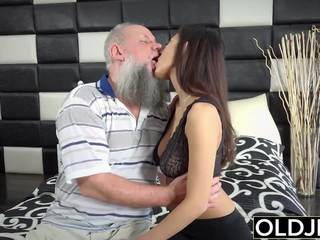 Morning Breakfast Sex Old and Teen Handjob Fucking: Porn f5