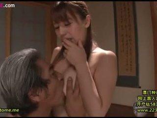 vol brunette tube, plezier orale seks, japanse kanaal