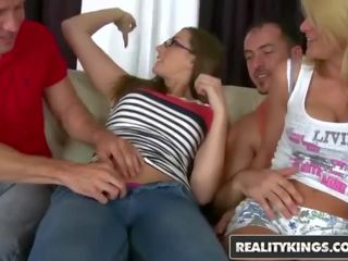 Reality Kings - Euro Teens Paige Turnah and Natasha Brill Gets Passed Around by 2 Cocks