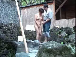 plezier japanse neuken, voyeur neuken, groot kleine tieten video-