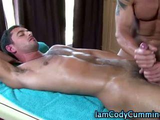 Muscle stud pornstar jerked off