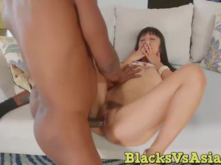 Hairy Cunt Marisa Hase Missionary Sex with Stiff BBC.