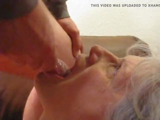 Grey Haired Granny Blowjob, Free Cum in Mouth Porn Video 1d