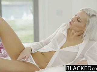 Blacked preppy blondýna priateľka kacey jordan cheats s bbc
