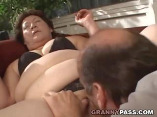 BBW Granny gets Her Fat Pussy Stuffed, Porn 00