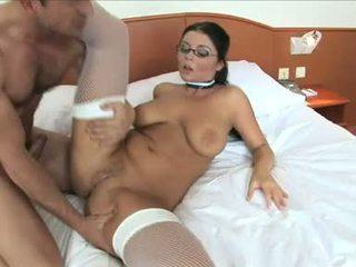 Christina jolie getting een hard anaal van hard piemel guy