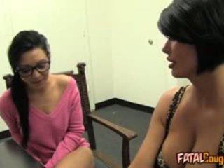 brunette, big boobs, lesbian