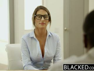 Blacked august ames gets an starprašu creampie