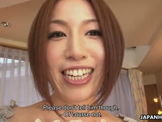 Asian Slut Hiromi Toy Masturbating as the Dude Wanks...
