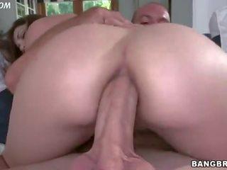 brunette, ideaal grote tieten video-, vers anaal klem