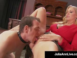 Mommy Dearest Julia Ann Punishes Her Boy Toy if He gets