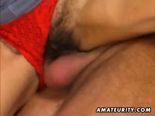 free brunette video, great blowjob, hairy cunt thumbnail