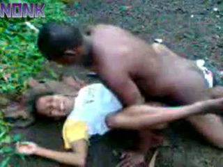 Horny Black Couple Fucking Outdoor Private Video