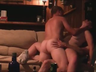 Amateur MMF DP threesome