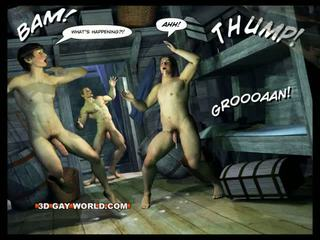 Adventures von cabin b-y 3d gay welt comics