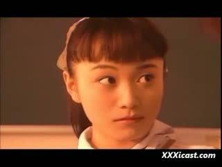 Asian Teen Schoolgirl Water And Rope Bondage