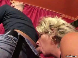 Granny enjoys anal fucking machine
