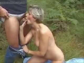 Classic German Mommy Outdoor Fun, Free Porn 3e