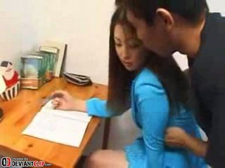 Asian Secretary Abused In The Office