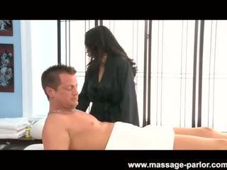 Jessica Bangcock massages a hard dick