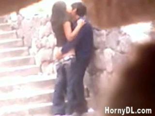 Horny Couple Secretly Filmed Fucking Outdoors